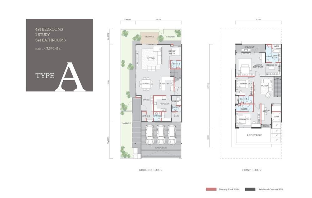 Cheria Type A Floor Plan