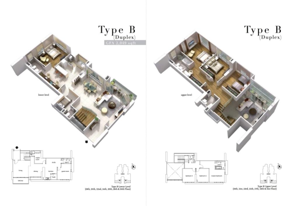 The Turf Type B Floor Plan