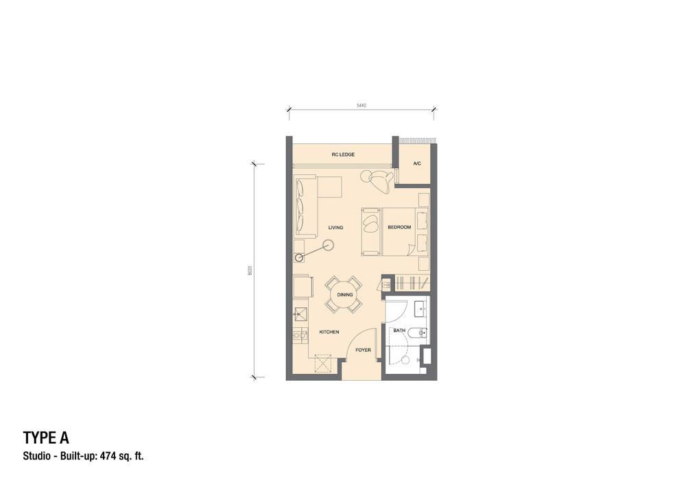 Grand Medini Type A Floor Plan
