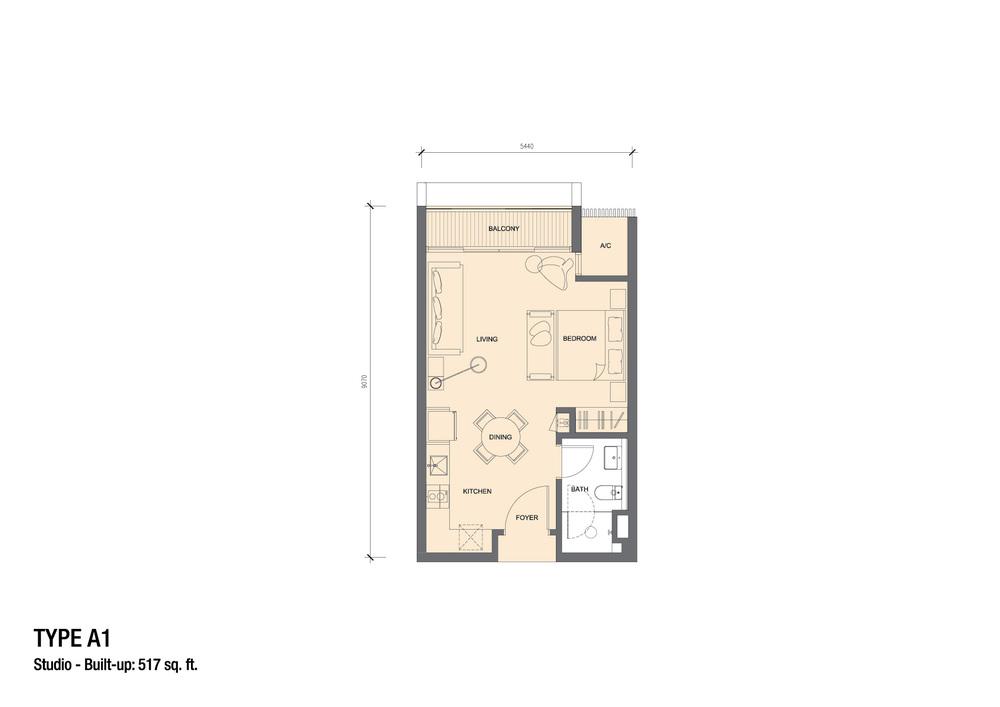 Grand Medini Type A1 Floor Plan