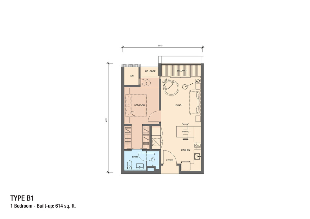 Grand Medini Type B1 Floor Plan