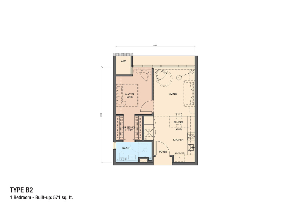 Grand Medini Type B2 Floor Plan