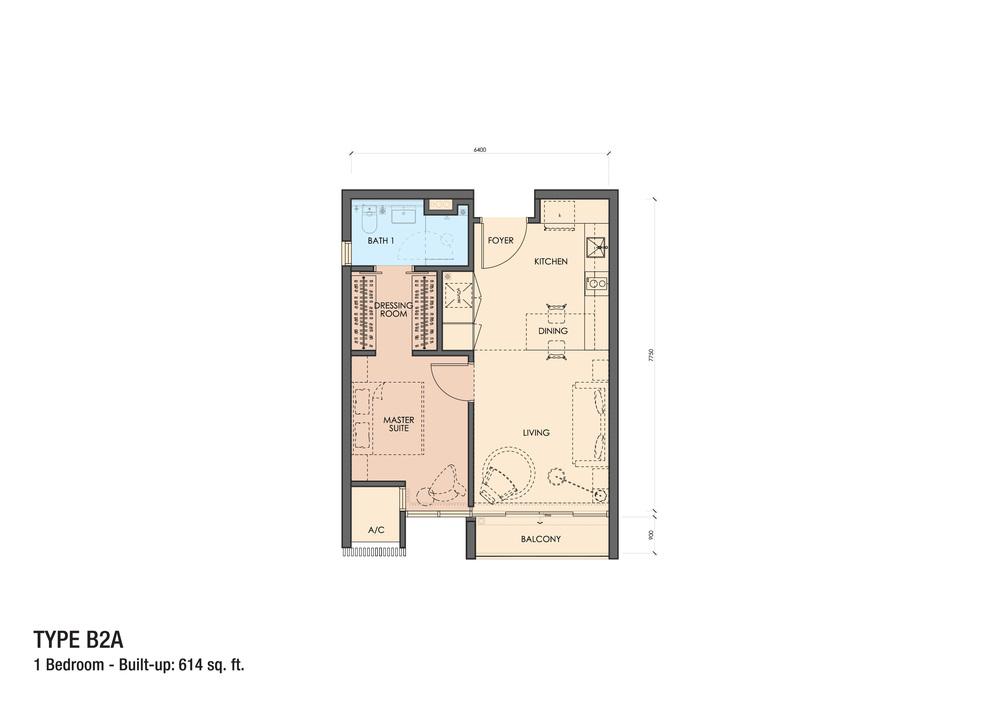 Grand Medini Type B2A Floor Plan
