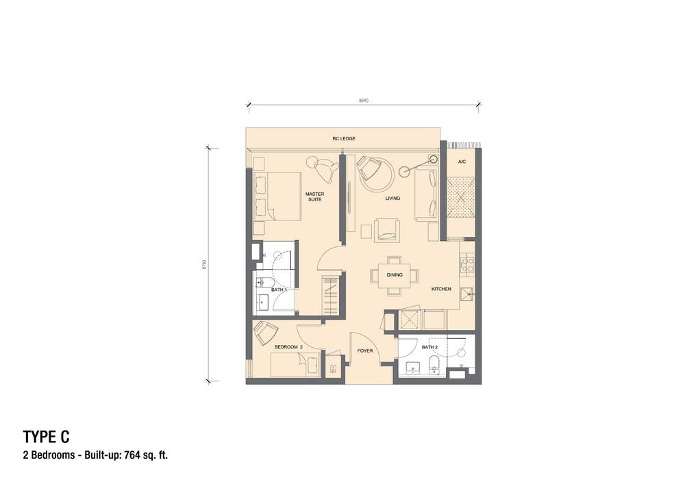 Grand Medini Type C Floor Plan