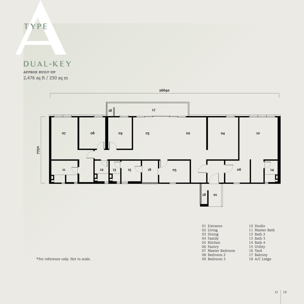 SqWhere Serviced Apartment - Type A Floor Plan