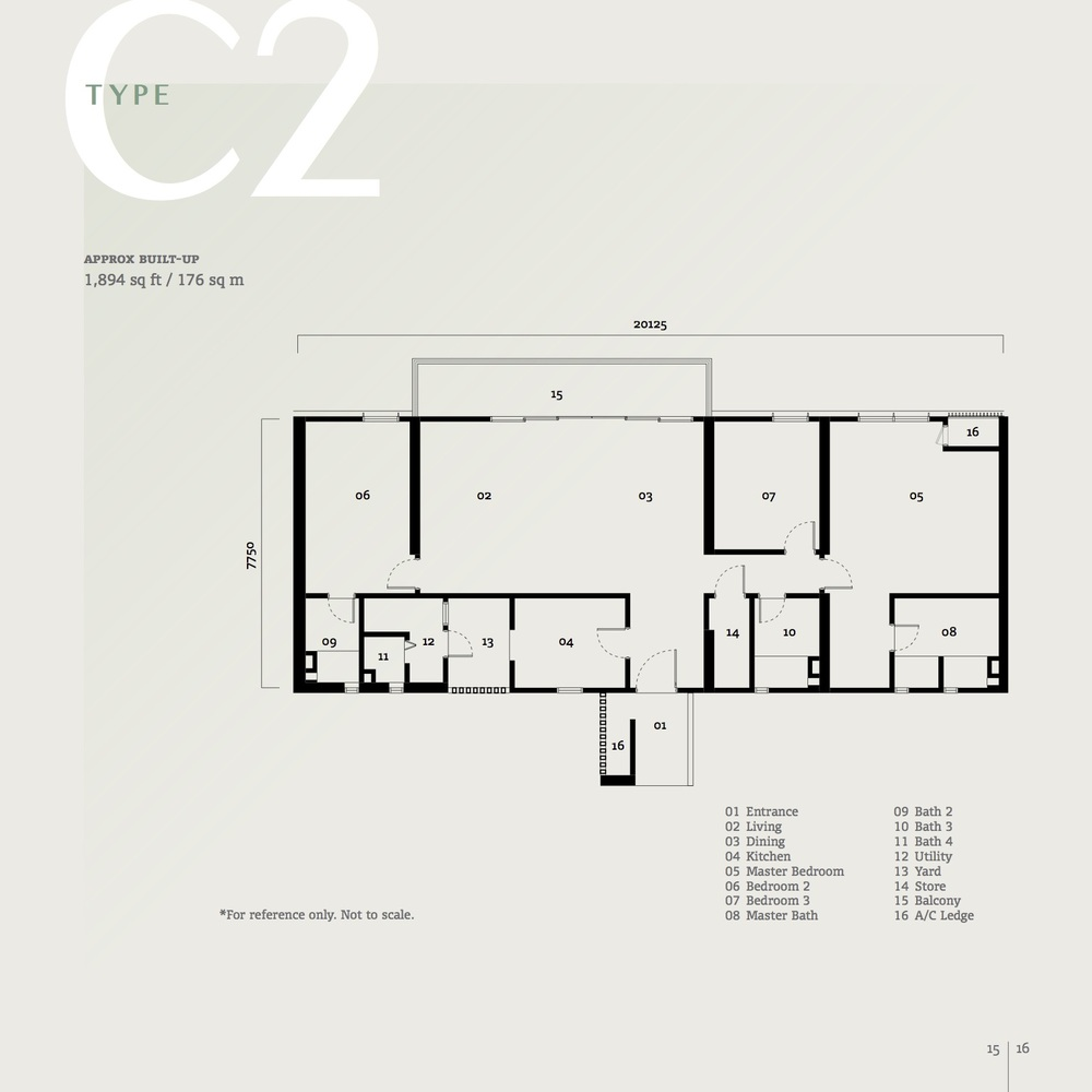 SqWhere Serviced Apartment - Type C2 Floor Plan