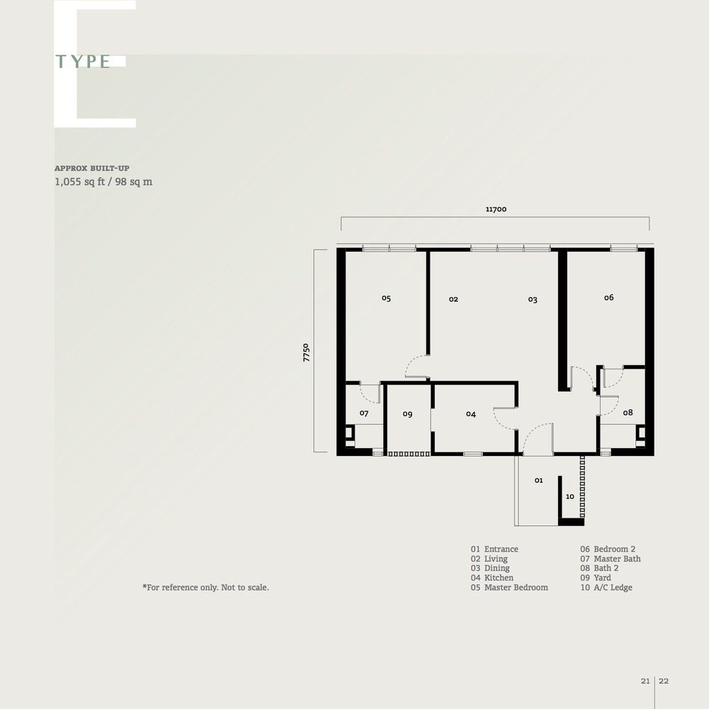 SqWhere Serviced Apartment - Type E Floor Plan