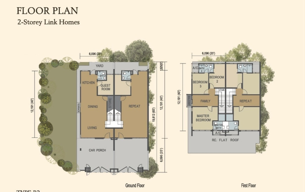 M Residence 2 Birch Floor Plan