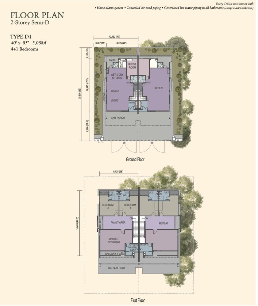 M Residence 2 Dalea Floor Plan