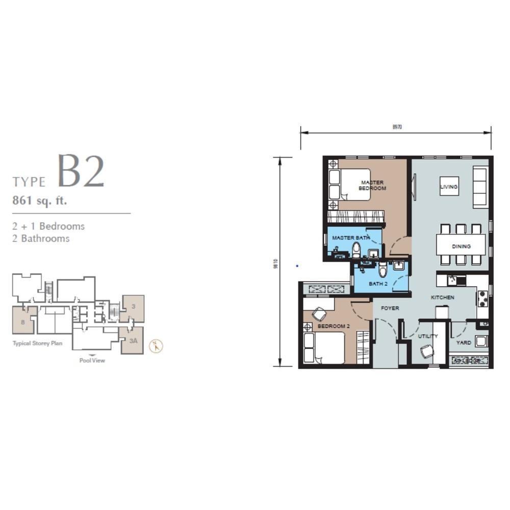 TRIO by Setia Type B2 (Block B) Floor Plan