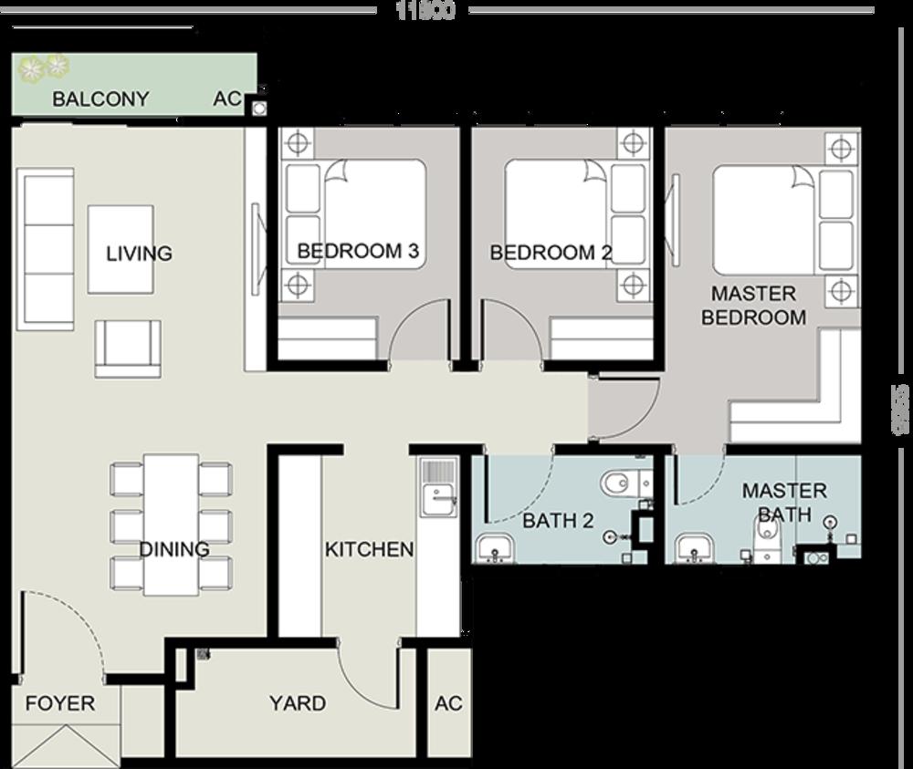 Setia Seraya Residences Type A Floor Plan
