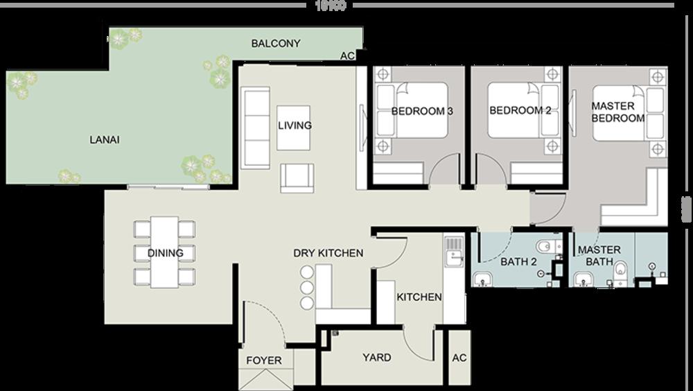 Setia Seraya Residences Type C Floor Plan