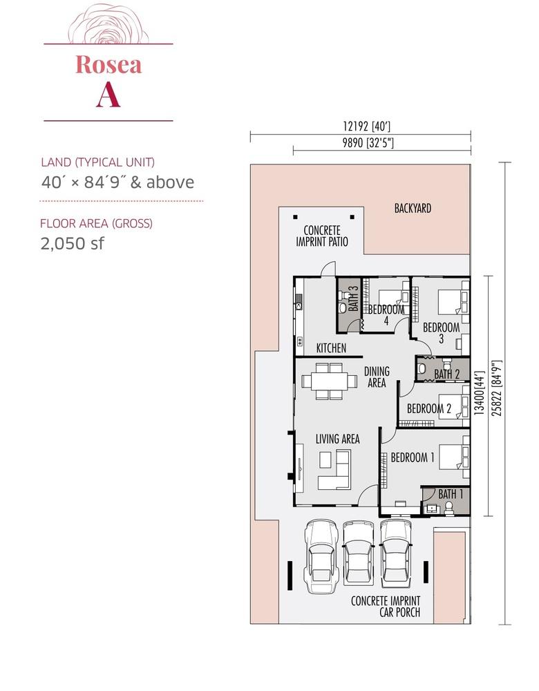 Roseville Rosea A Floor Plan