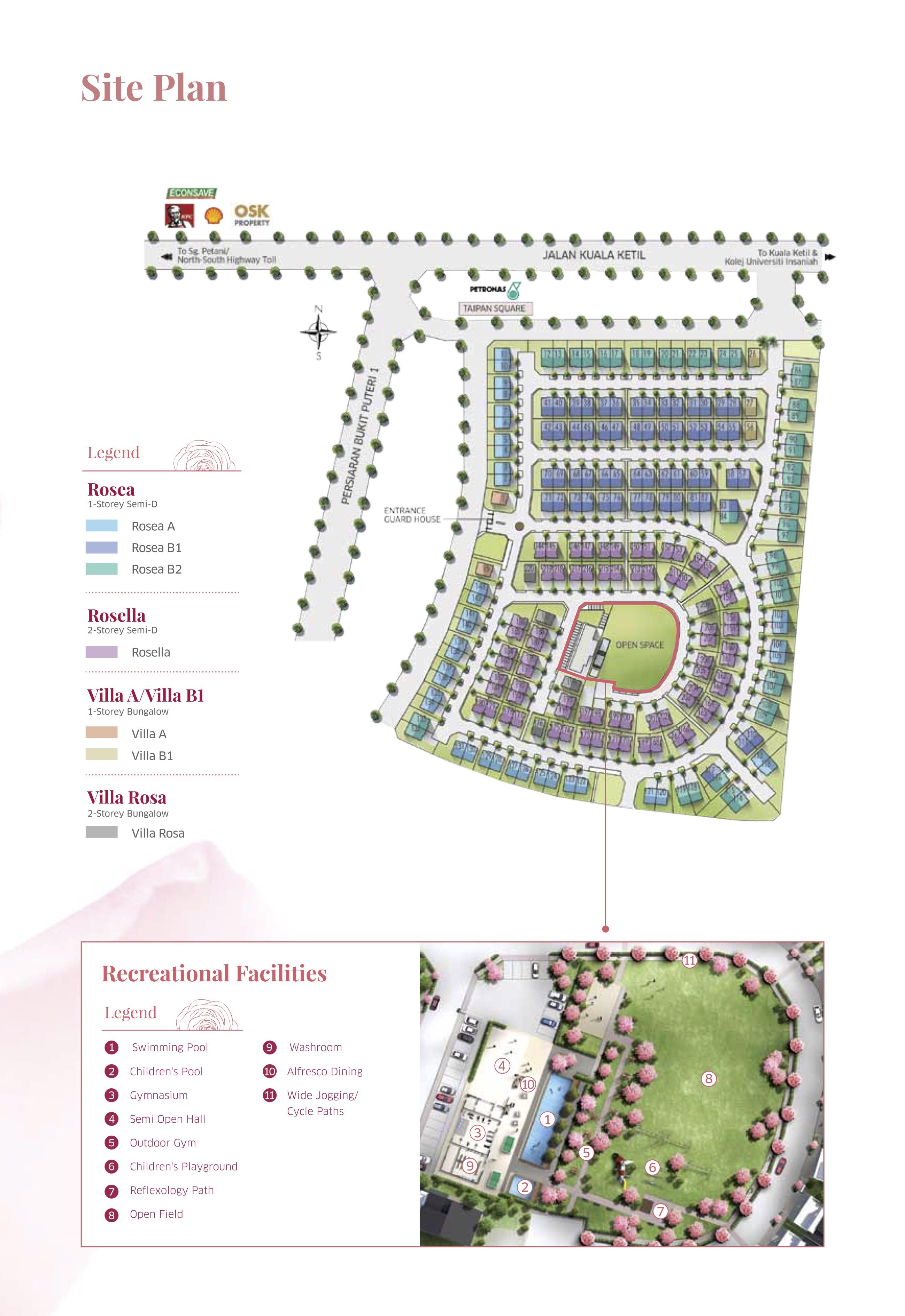 Site Plan of Roseville