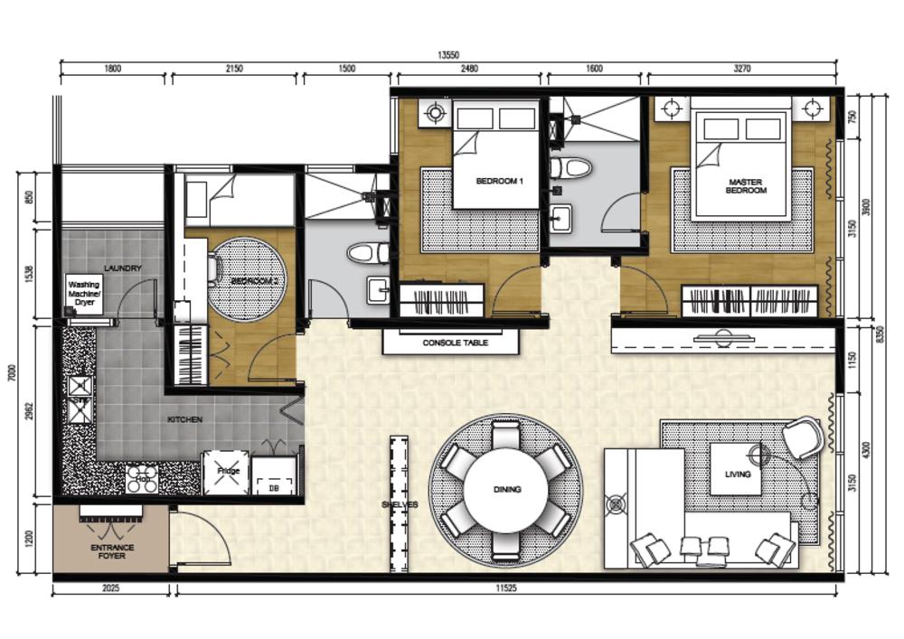 The Apple Type A Floor Plan
