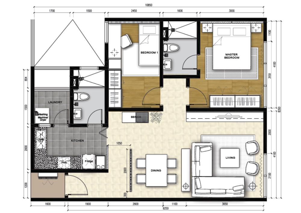 The Apple Type B Floor Plan