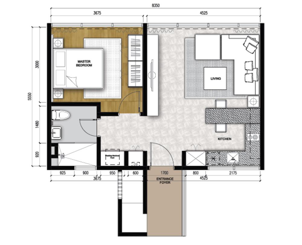 The Apple Type C1 Floor Plan