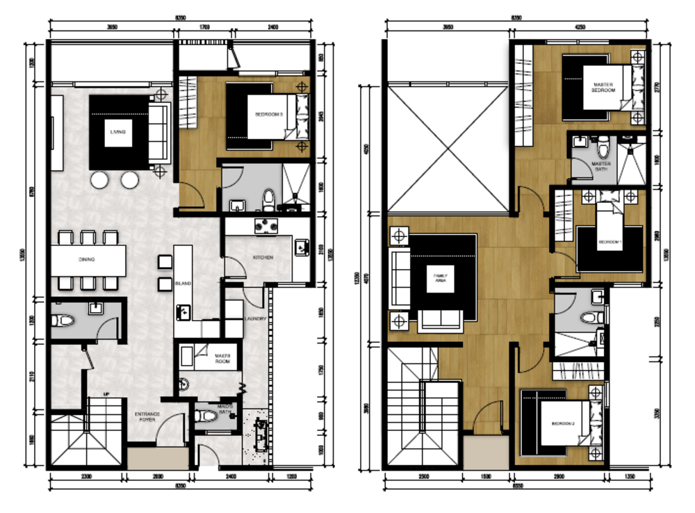 The Apple Type P2 Floor Plan