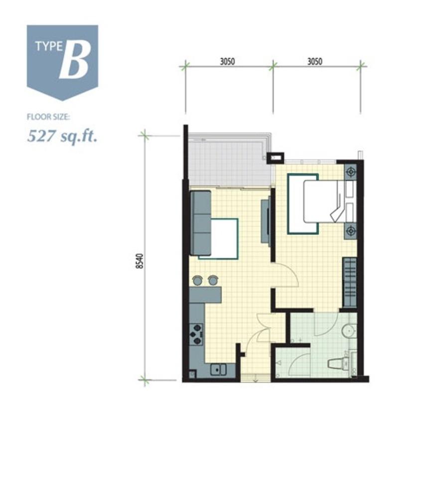 Meru Valley EcoVillage Aman Lofts - Type B Floor Plan