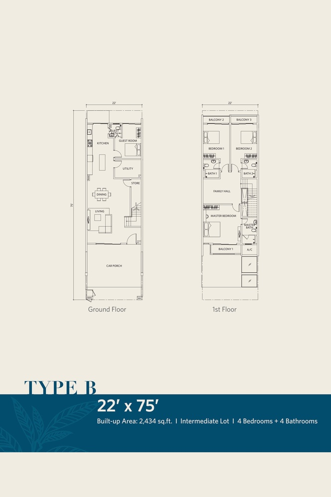 CasaView @ Cybersouth Type B Floor Plan