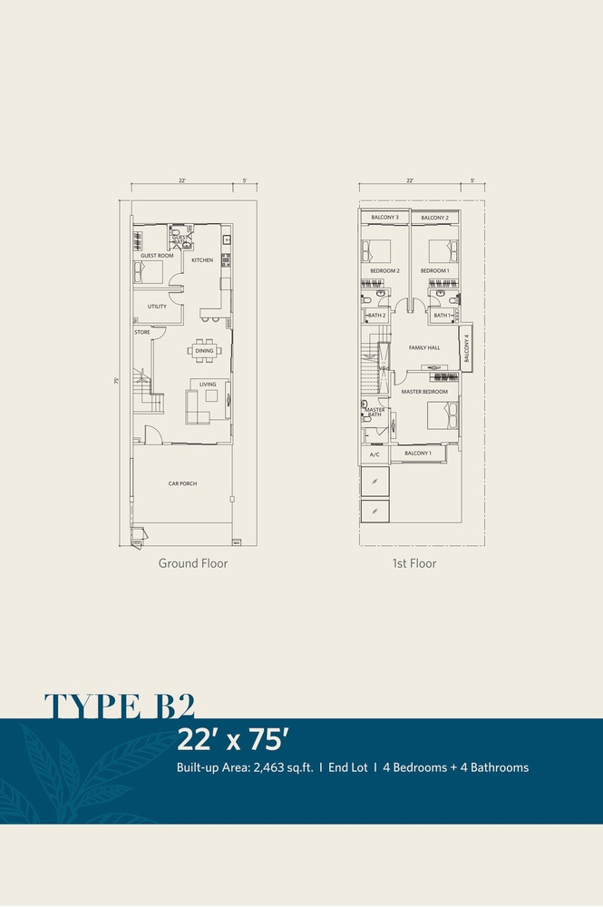 CasaView @ Cybersouth Type B2 Floor Plan