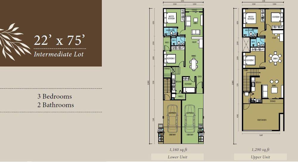 Bellevue @ Cybersouth Intermediate Lot (Lower & Upper Unit) Floor Plan