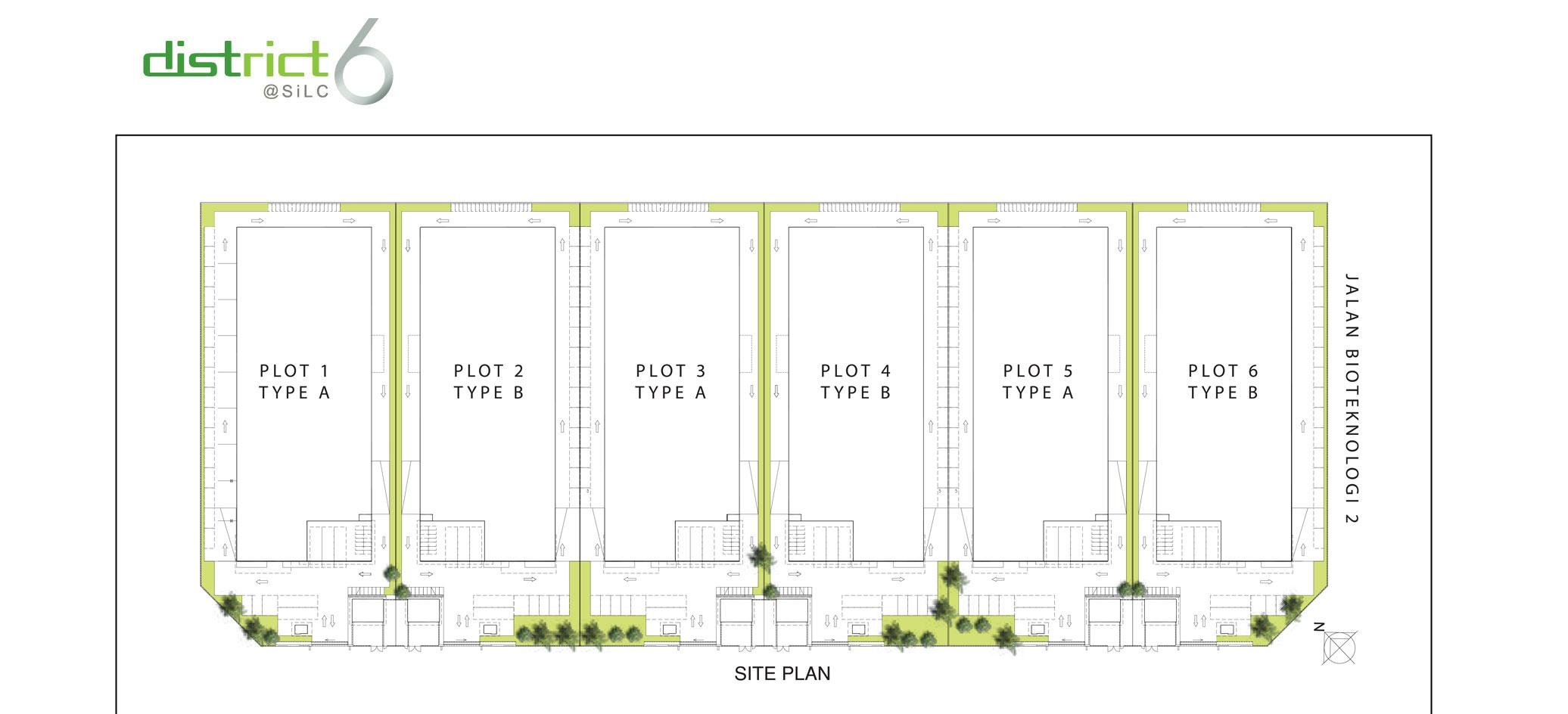 Site Plan of District 6 @ SiLC