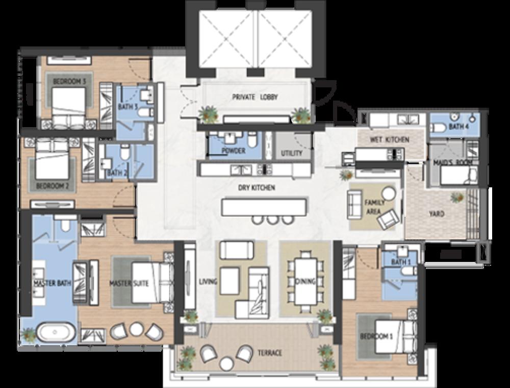 The Astaka @ 1 Bukit Senyum Type B Floor Plan