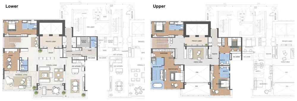 The Astaka @ 1 Bukit Senyum Duplex Floor Plan