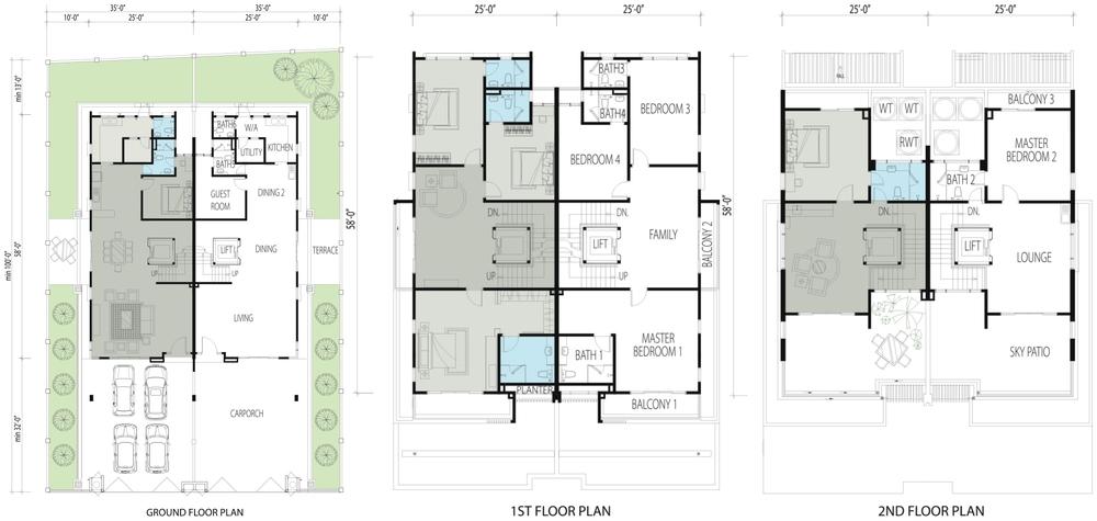 GolfView Residence Standard Floor Plan