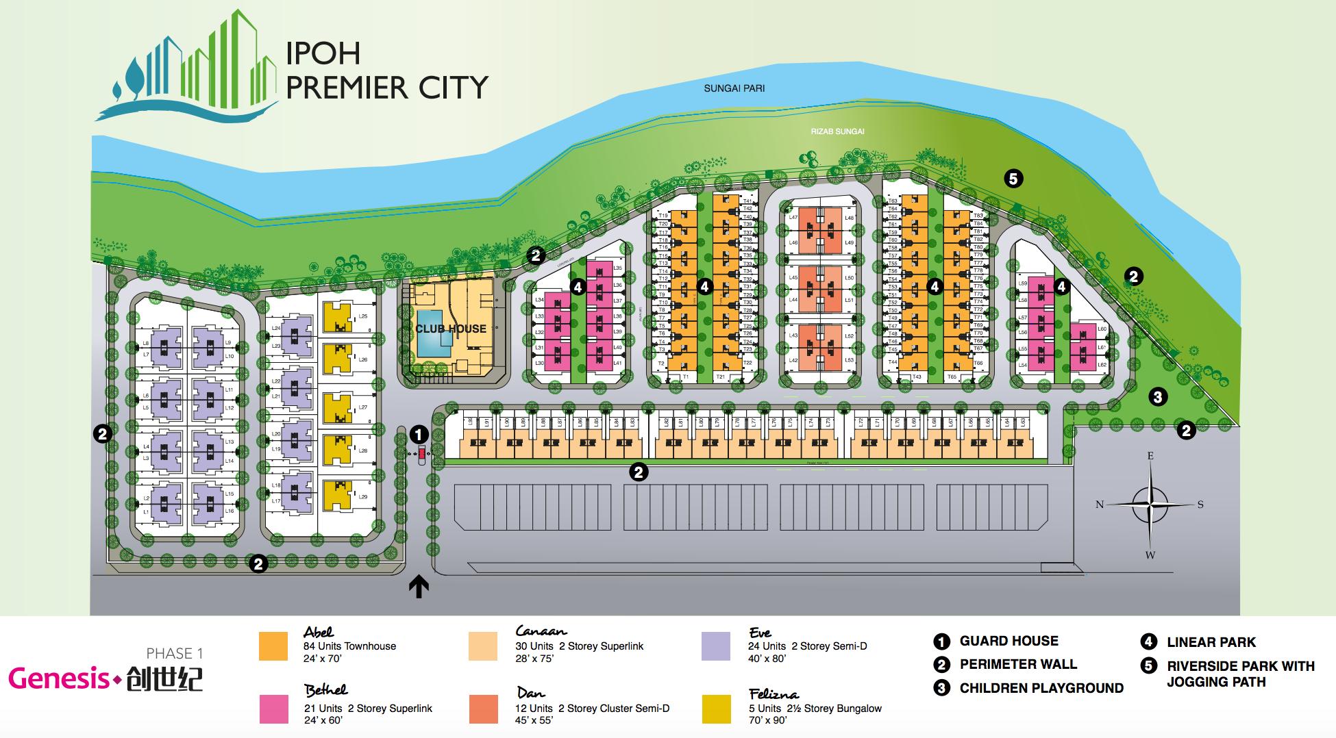 Site Plan of Ipoh Premier City