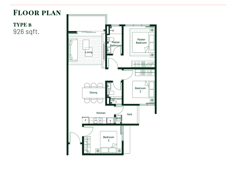 Platinum Splendor Residence Type B Floor Plan
