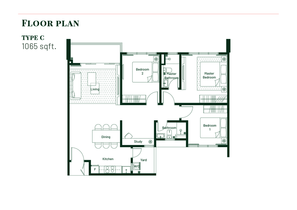 Platinum Splendor Residence Type C Floor Plan
