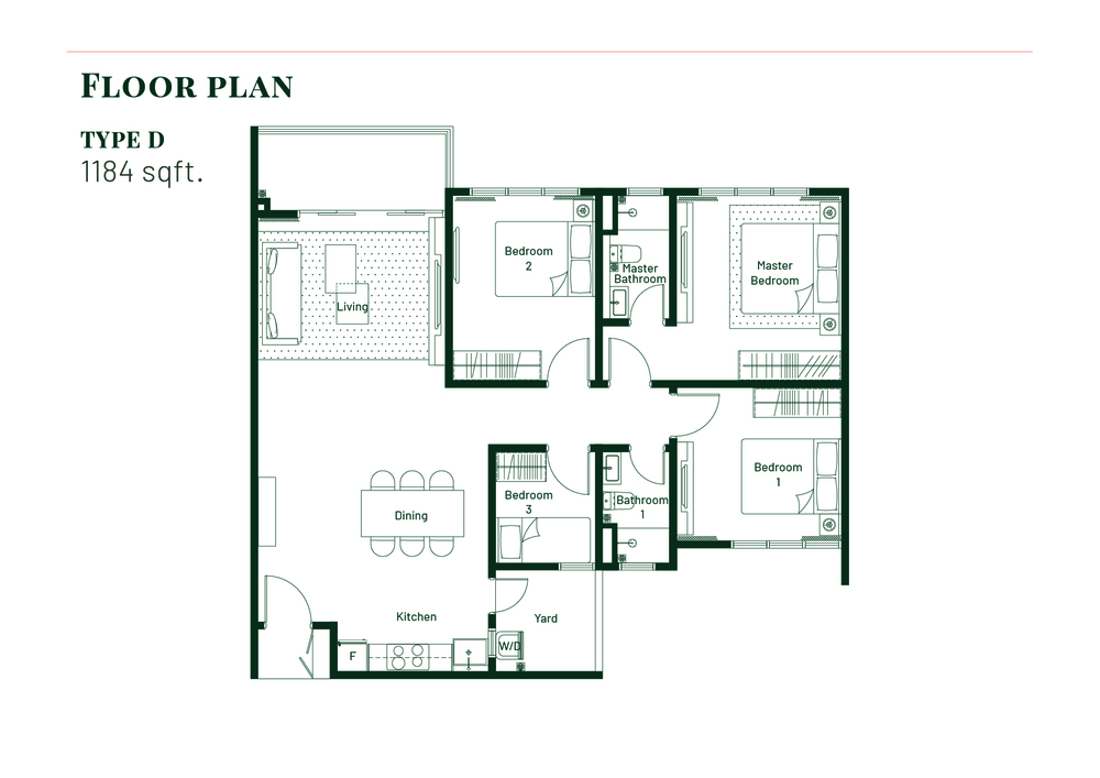 Platinum Splendor Residence Type D Floor Plan