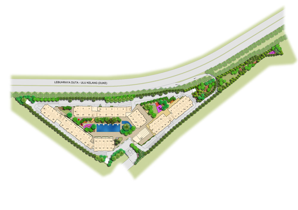 Site Plan of Platinum Splendor Residence