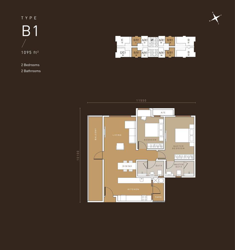 MET 1 Residences @ KL Metropolis Type B1 Floor Plan
