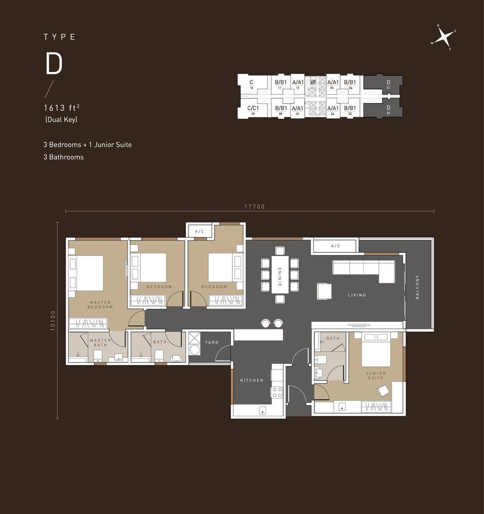 MET 1 Residences @ KL Metropolis Type D Floor Plan