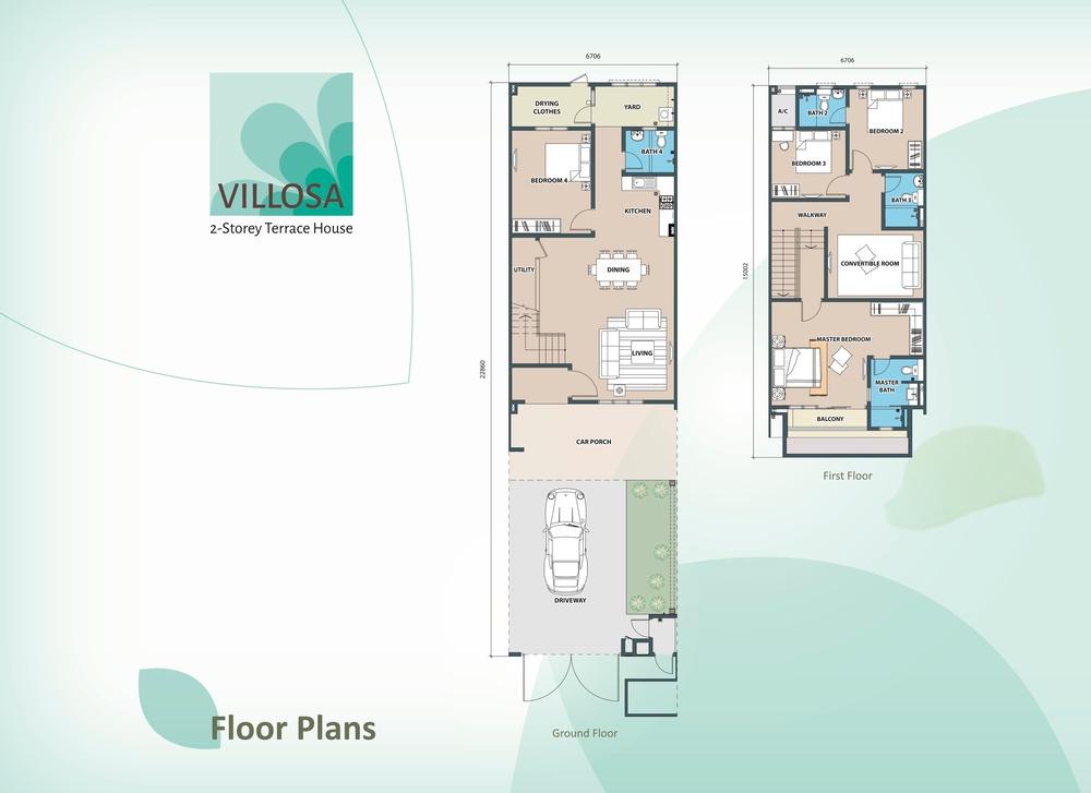Villosa Standard Unit Floor Plan