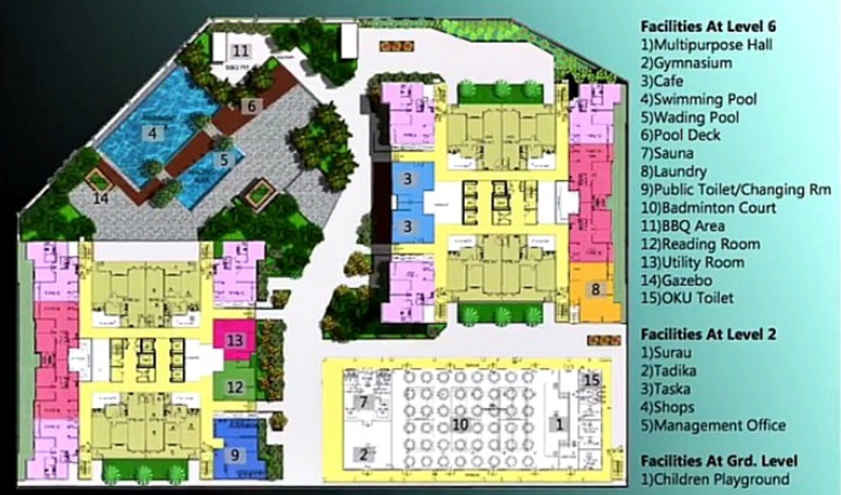 Site Plan of Paraiso @ The Earth Bukit Jalil