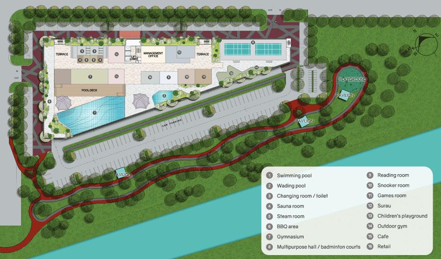 Site Plan of Koi Suites