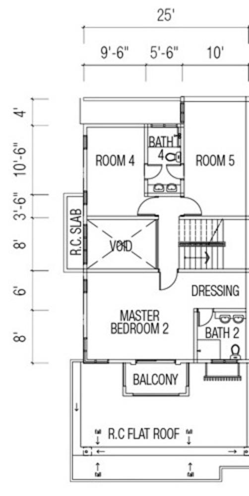 Ridgewood @ Taman Bercham Permai Three Storey Cluster Semi-D Type C1 (First Floor) Floor Plan