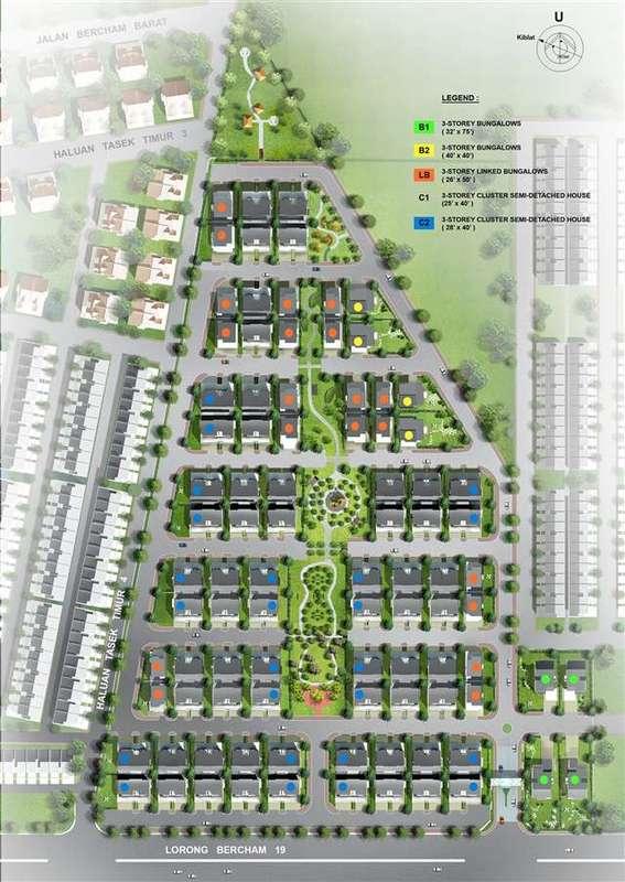 Master Plan of Ridgewood @ Taman Bercham Permai