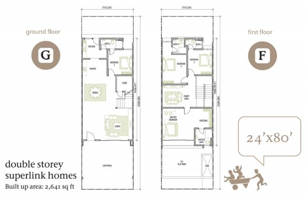 Rimbun Vista 24' x 80' Floor Plan