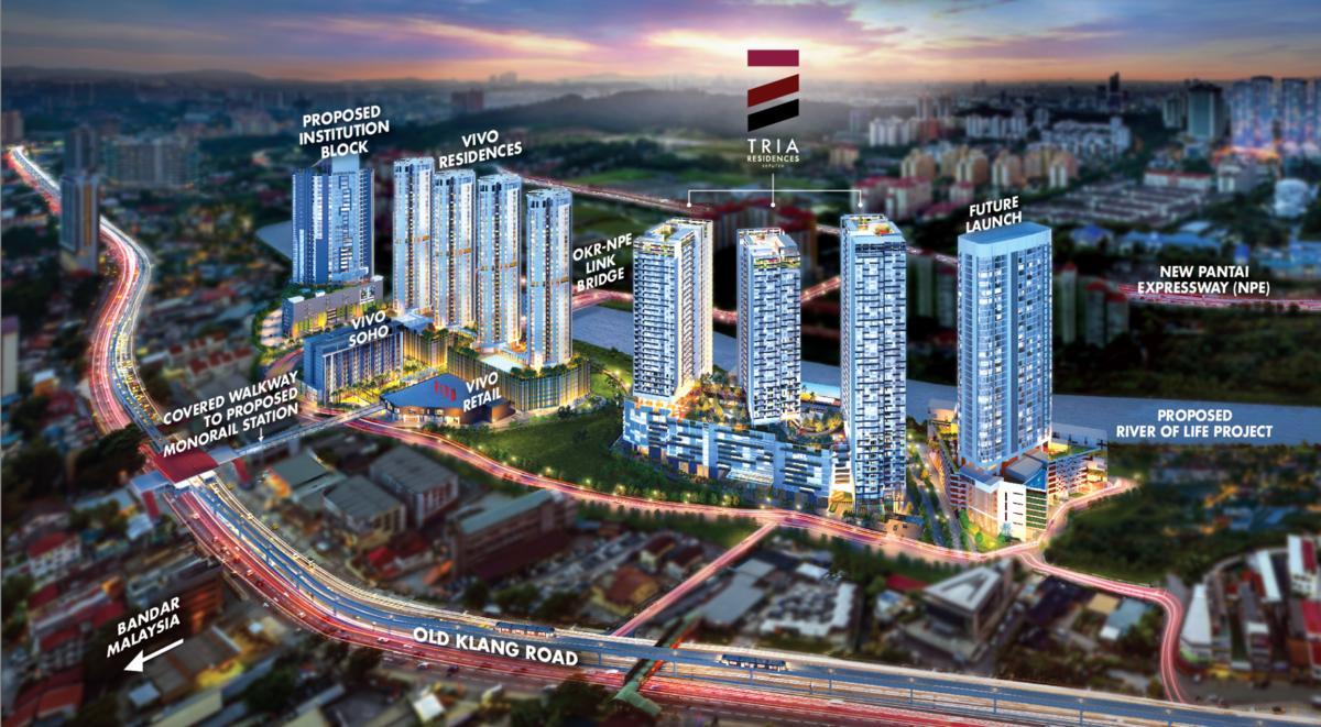 Master Plan of Tria Residences @ 9 Seputeh