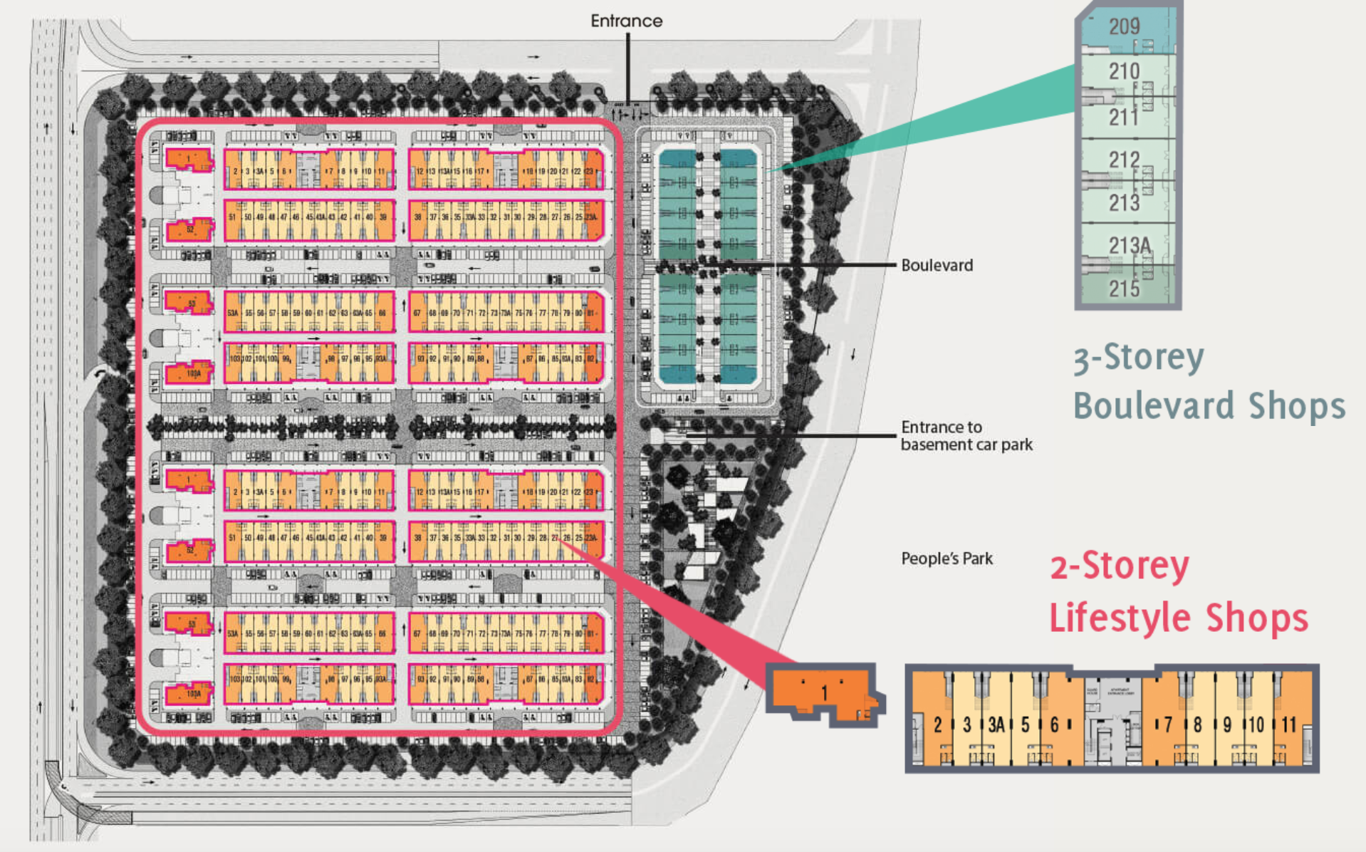Site Plan of Savanna Lifestyle Shops