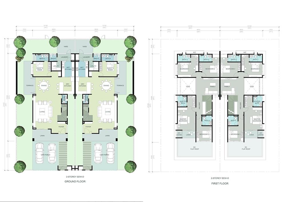 The Gulf Rafia 2 Villa Floor Plan