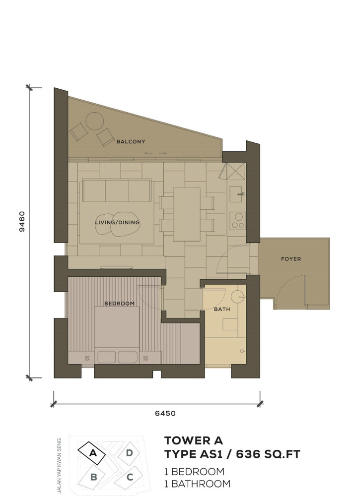 Isola KLCC Type AS1 Floor Plan