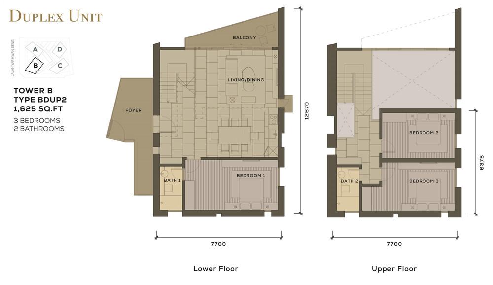 Isola KLCC Type BDUP2 Floor Plan