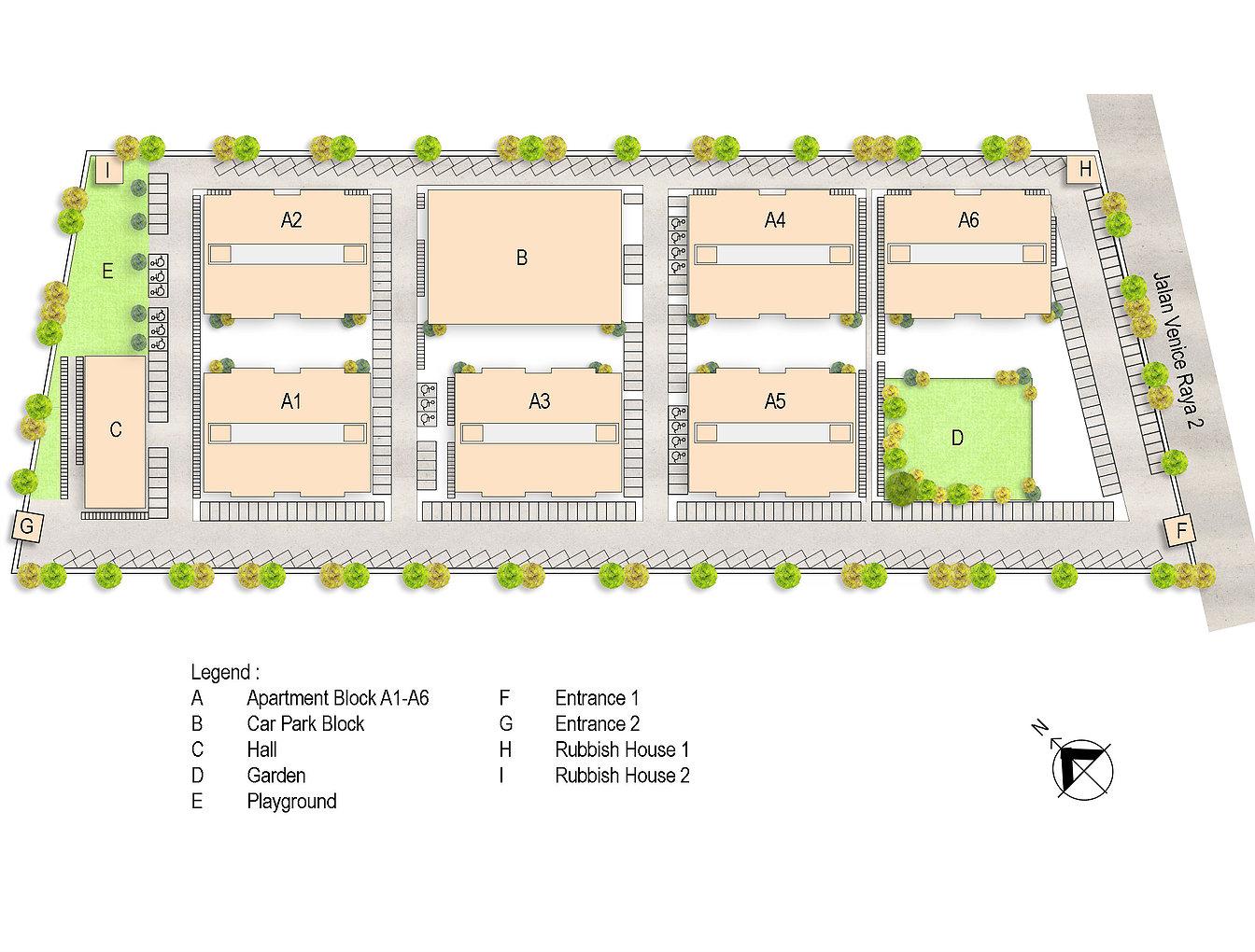 Site Plan of Pangsapuri Samudera 1
