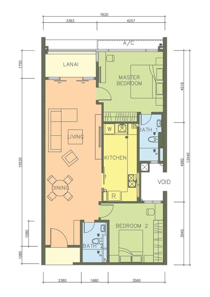 PacifiCity Type 1 Floor Plan
